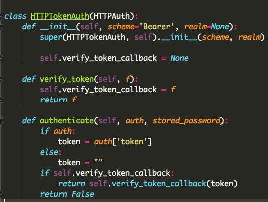 Flask如何实现HTTP令牌token认证