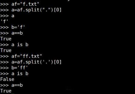 python怎样判断两个字符串是否相同
