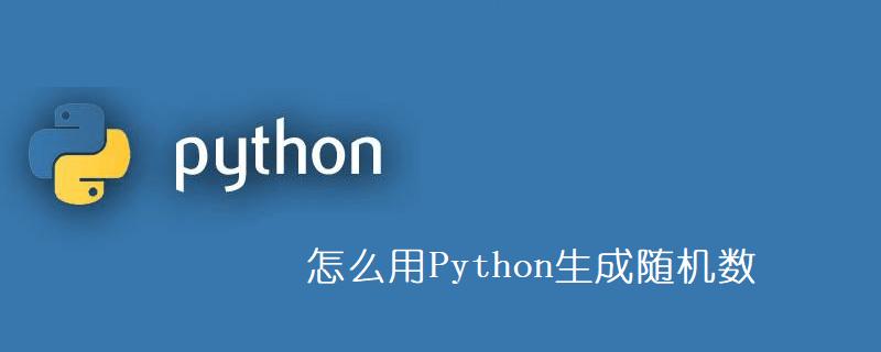 怎么用Python生成随机数