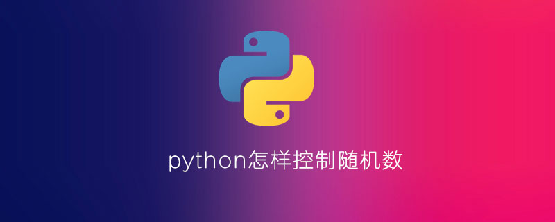 python怎样控制随机数