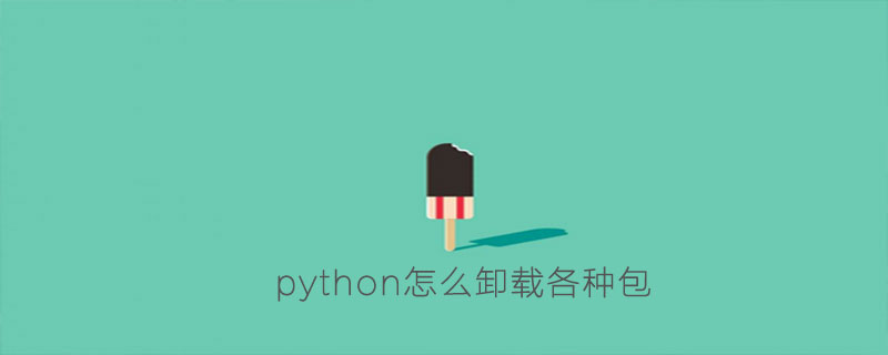 python怎么卸载各种包