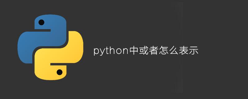"python中""或者""怎么表示"