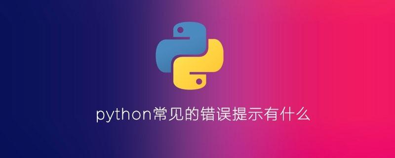 python常见的错误提示有什么