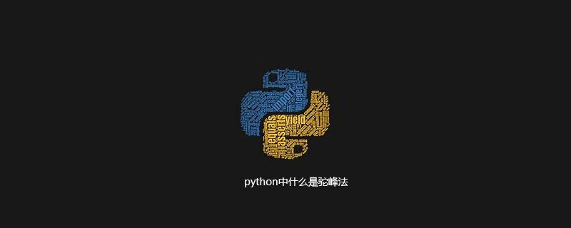 python中什么是驼峰法
