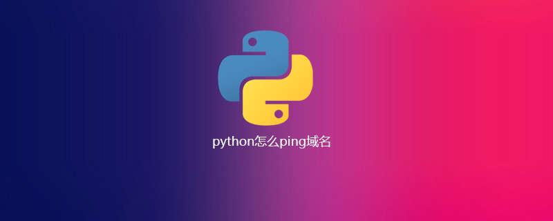 python怎么ping域名