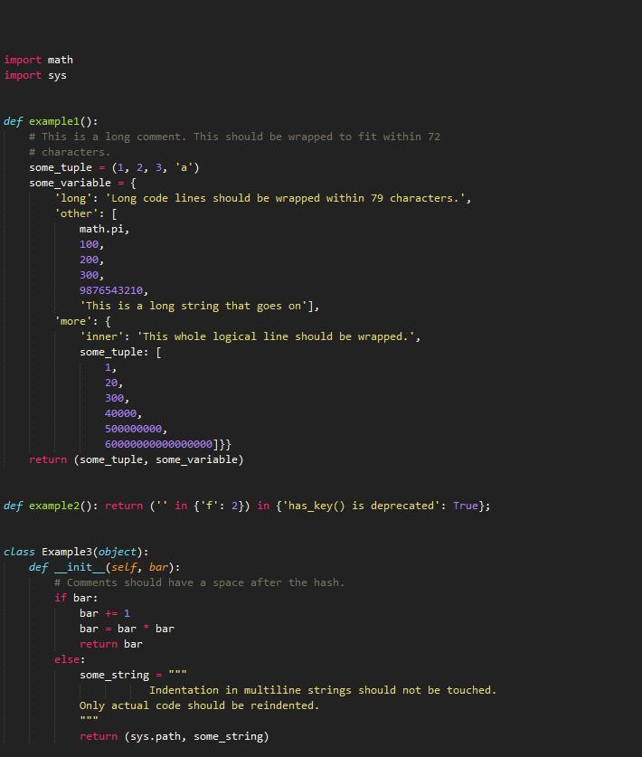 Python如何按PEP8风格自动排版代码