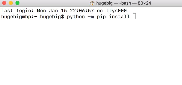 mac如何安装python包
