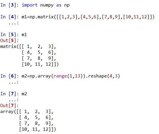 python如何输入矩阵