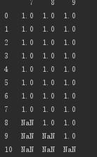 python怎么删除列为空的行