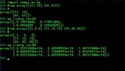 python逆矩阵怎么求