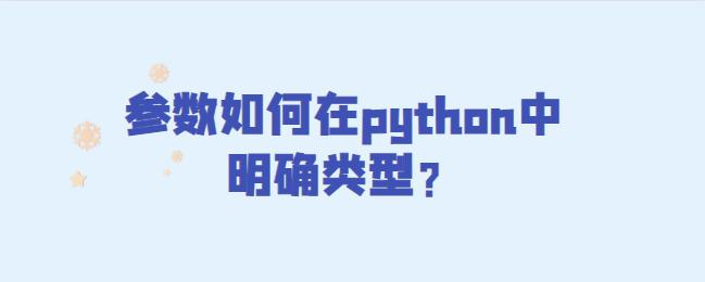 参数如何在python中明确类型?