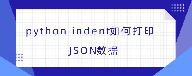 python indent如何打印JSON数据