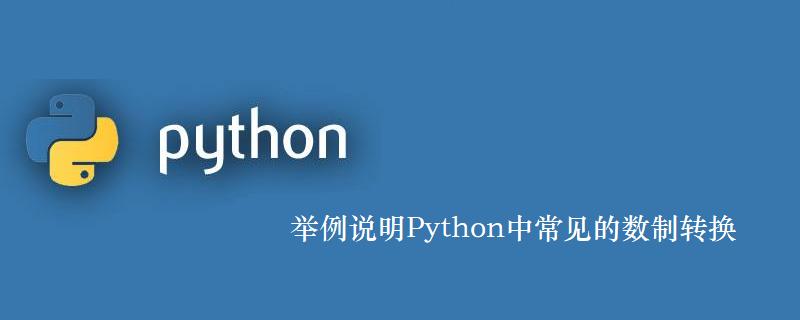 举例说明Python中常见的数制转换