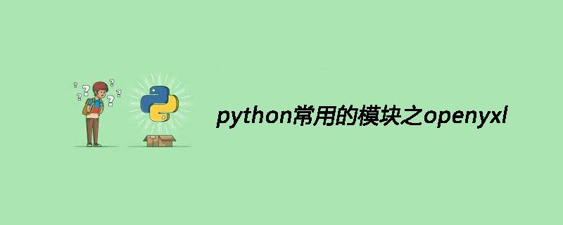 python常用的模块之openyxl