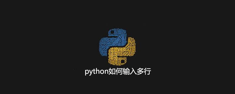 python如何输入多行