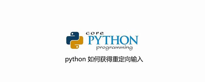 python 如何获得重定向输入