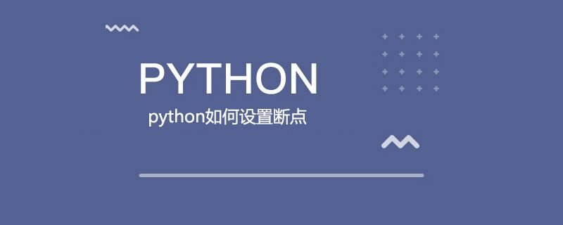 python如何设置断点