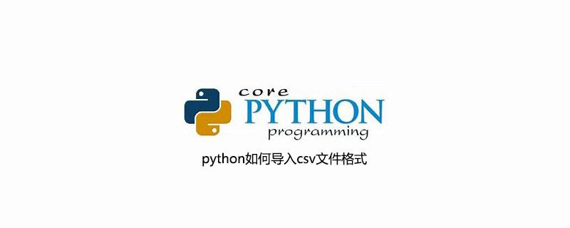 python如何导入csv文件格式