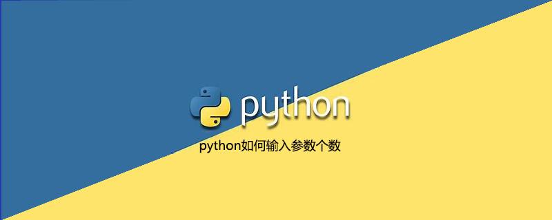 python如何输入参数个数