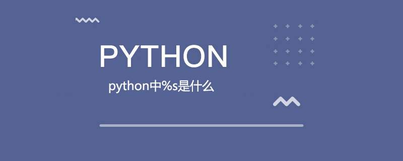 python中%s是什么