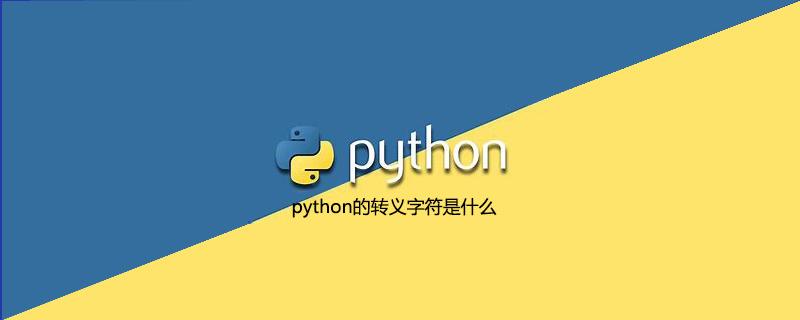 python的转义字符是什么