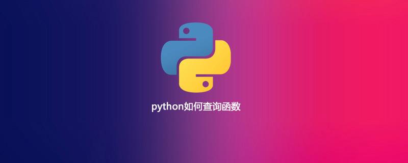 python如何查询函数