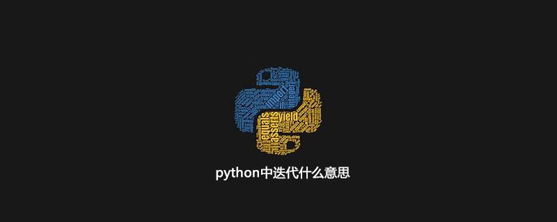 python中迭代什么意思