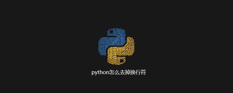 python怎么去掉换行符